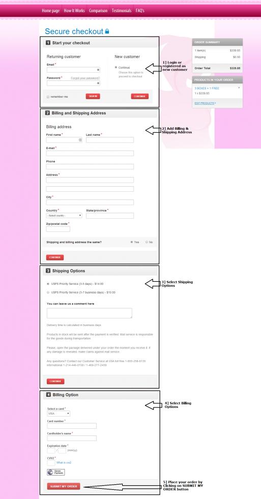 Enter your order information for Brestogen